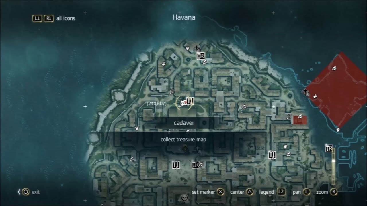 Assassins Creed 4 All Treasure Maps Locations 1 22 Youtube