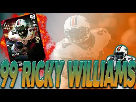 99 RICKY WILLIAMS GAMEPLAY MADDEN 17 ULTIMATE TEAM GAMEPLAY
