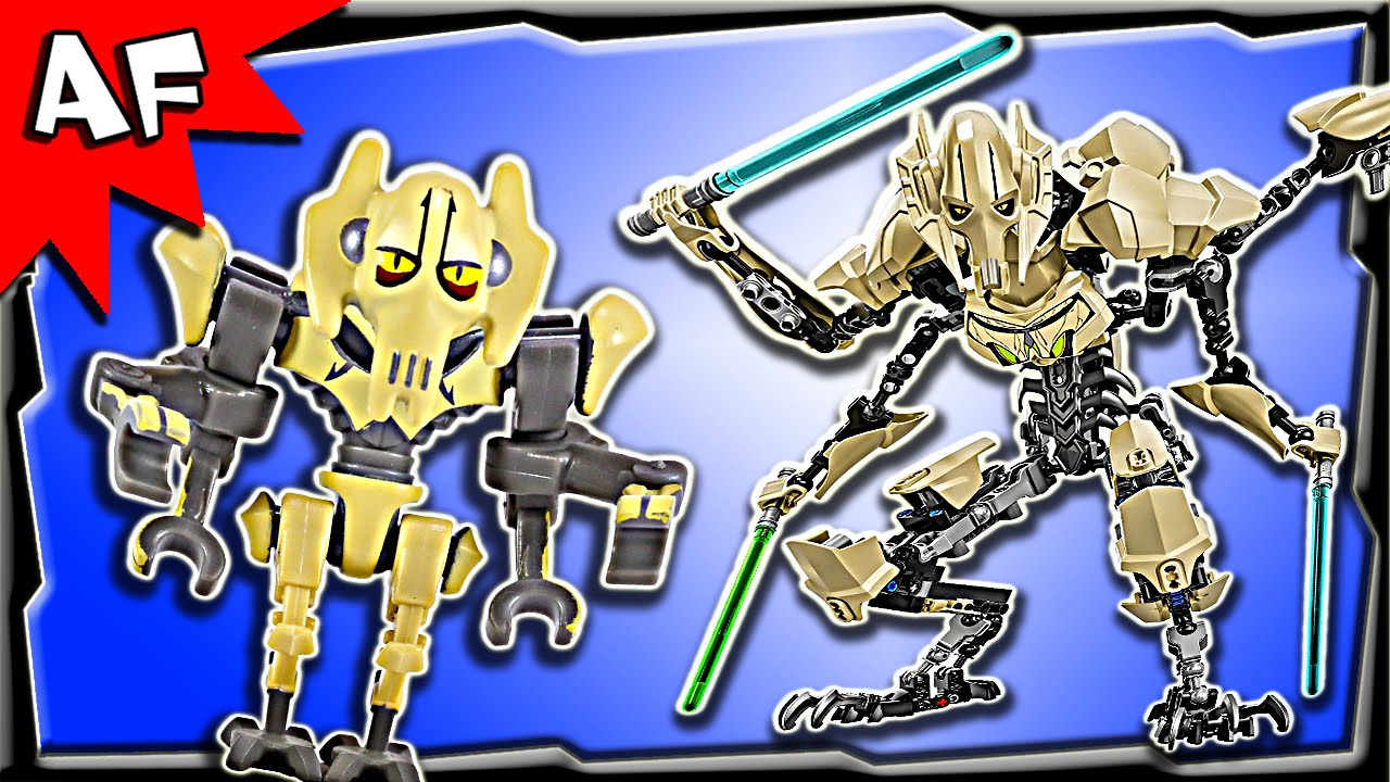 Lego Star Wars General Grievous Battle Figure 75112 Stop Motion 75157 Captain Rexamp039s At Te Build Review Youtube