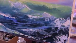 Волна море морской пейзаж научиться рисовать море Художник Игорь Сахаров