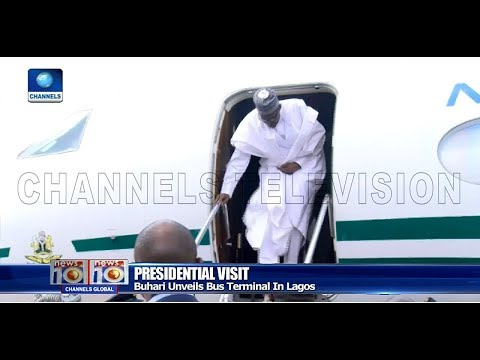Buhari Visits Lagos, Inaugurates Ikeja Bus Terminal Pt.1 |News@10| 29/03/18