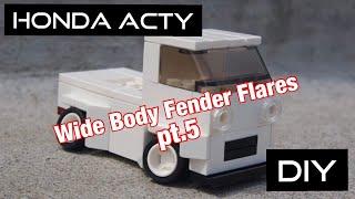 Honda Acty JDM Kei car mini truck project.  Episode 37, DIY fender flares pt.5.