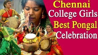 thai pongal festival Chennai college girls celebrate thai pongal festival tamil  news live
