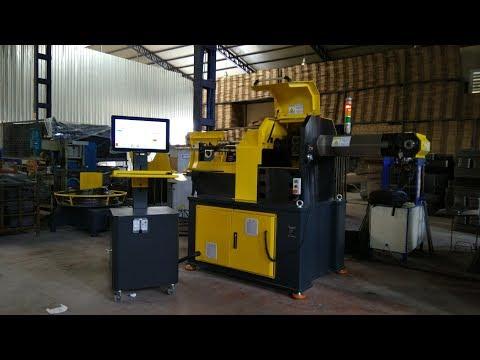 3 Boyutlu CNC Tel Bükme Makinası / Three Axis CNC Wire Bending Machine