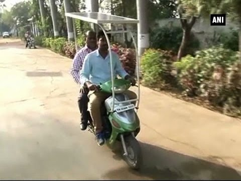 Students in Chennai build solar powered e-scooter