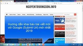 Hướng dẫn Submit URL lên Google 2019 để Google Index bài viết nhanh nhất 2019