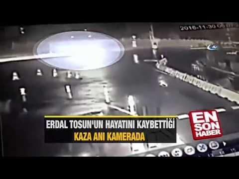 Erdal Tosun'un hayatını kaybettiği kaza anı
