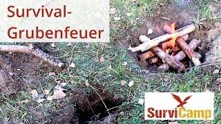 Grubenfeuer machen | Survival-Magazin von SurviCamp