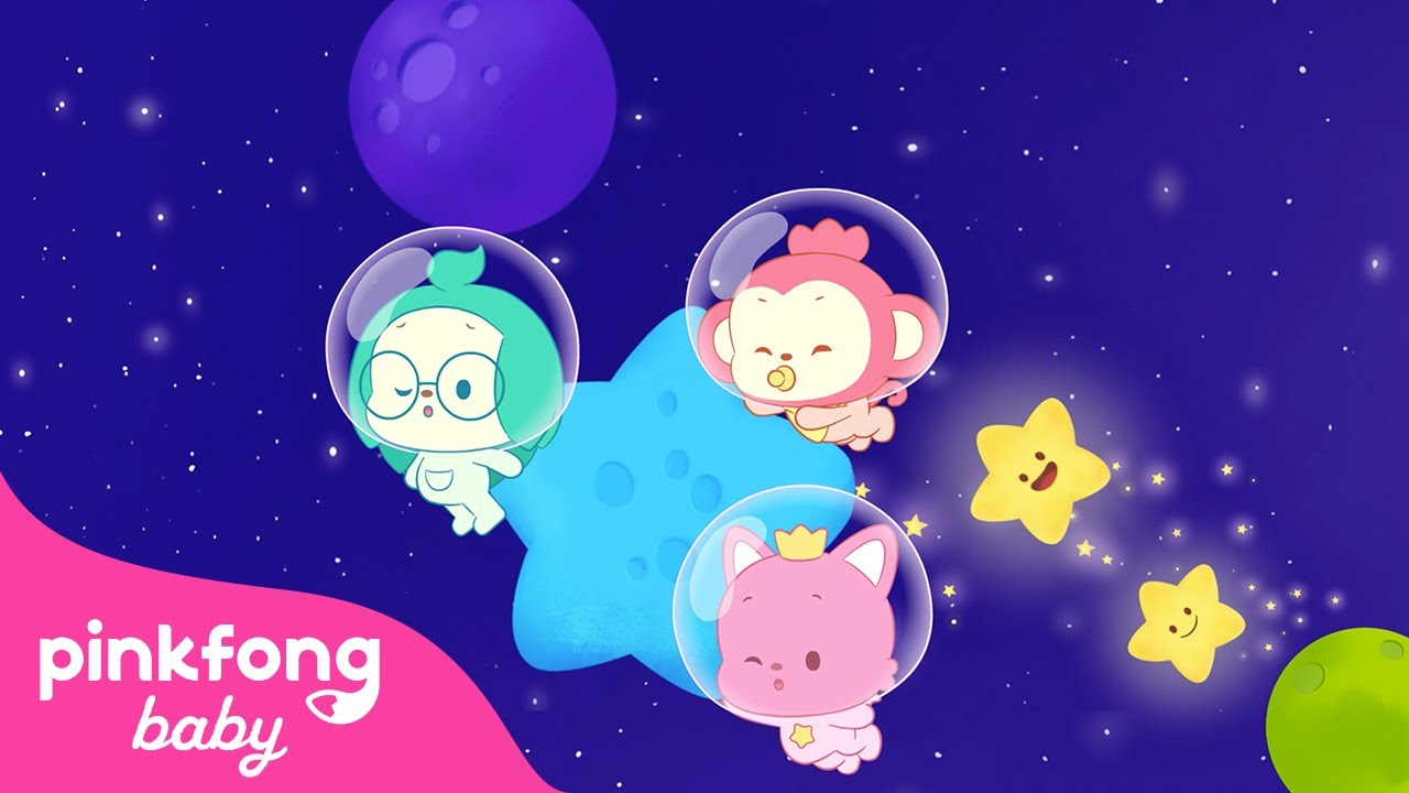 Bedtime Lullabies and Calming music | Space BGM | Sleep Sounds for Baby | @Pinkfong! Baby Friends