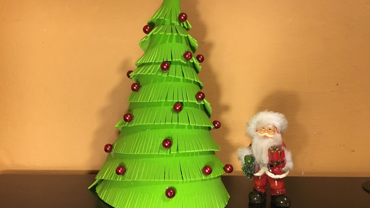How to make a Christmas Tree from decor foam - YouTube