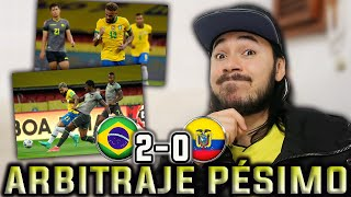 COLOMBIANO REACCIONA A BRASIL vs ECUADOR (2-0) Eliminatorias Mundial Qatar 2022