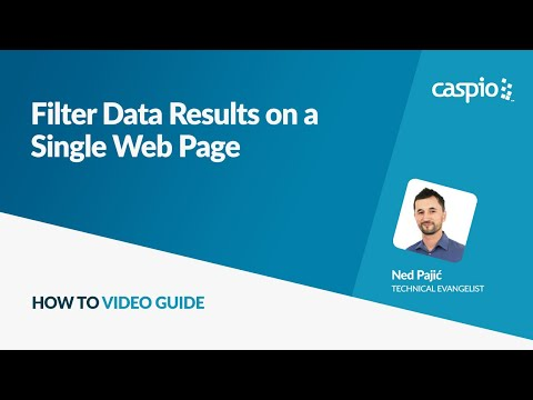 Filter Data Results on a Single Web Page