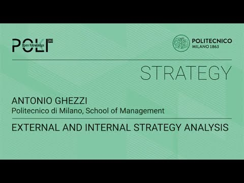 Externaland internal Strategyanalysis (Antonio Ghezzi)