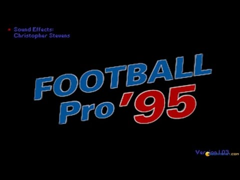 Front Page Sports: Football Pro '95 gameplay (PC Game, 1995)