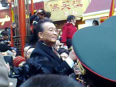 Wen Jiabao visited Chinatown in London on 31st Jan 2009