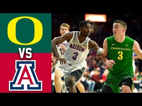 #14 Oregon Vs #24 Arizona Highlights 2020 College Basketball