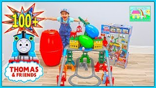 100+ Thomas & Friends Toys in Huge Surprise Egg on Biggest Thomas Playset Ever!
