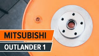 How to change Wheel speed sensor OUTLANDER I (CU_W) - step-by-step video manual