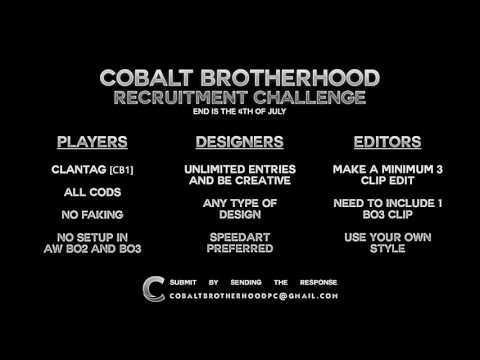 Cobalt Brotherhood Recruitment Challenge [CB1] ENDED