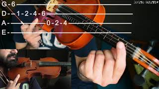 how to play c# min scale on violin | easy music tutorials
