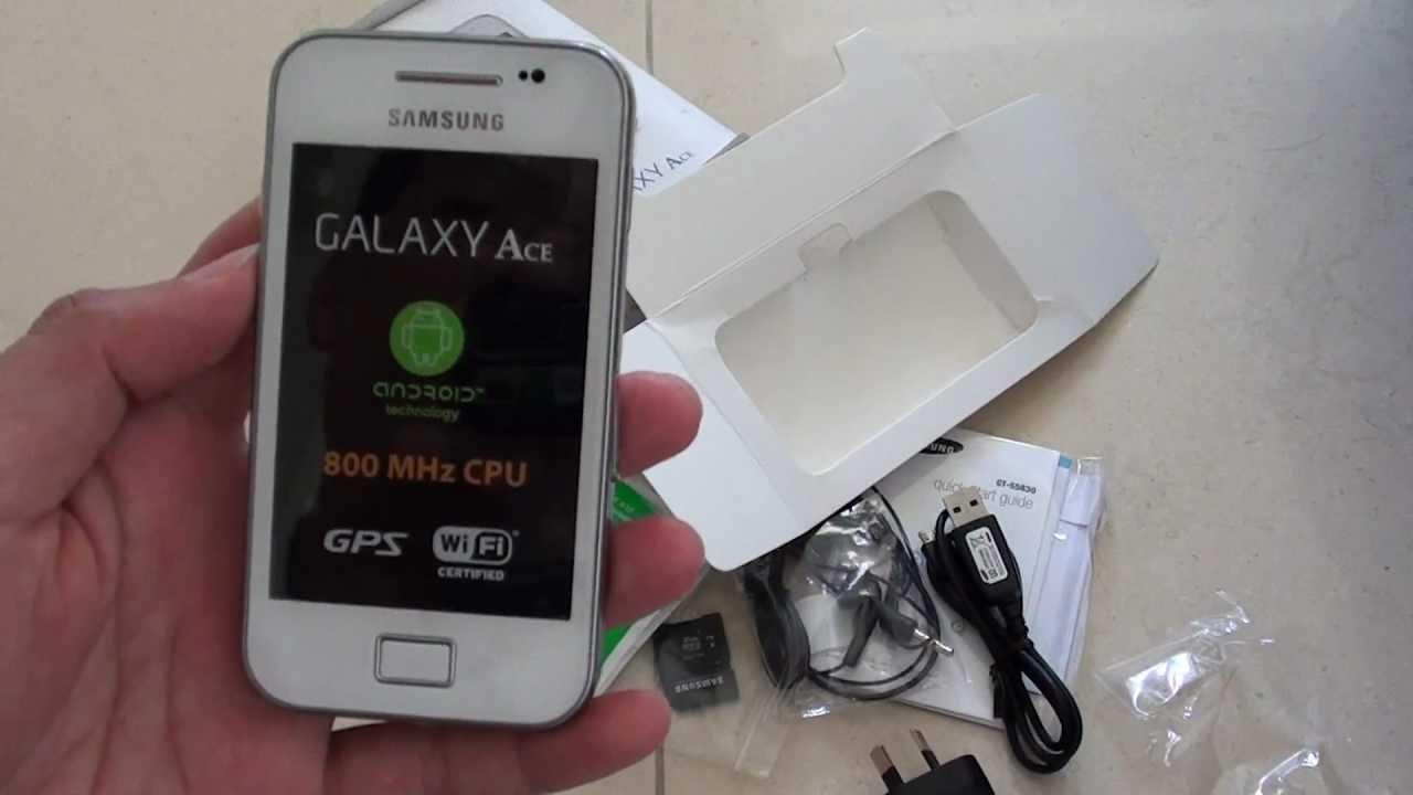 Samsung Galaxy Ace: How to Insert SIM Card - YouTube
