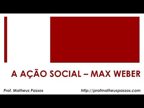 Tipos de ação social — Max Weber