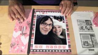 quick easy scrapbook layout ctmh sweetheart paper