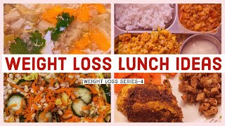 Sharing 4 healthy lunch ideas for people in diet or trying to lose weight. 1. soup 2. sprouts salad 3. low carb meals (lemon pepper grill chicken recipe...