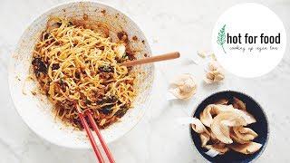 CHINESE TAKE OUT: VEGAN DAN DAN NOODLES & FORTUNE COOKIES | hot for food