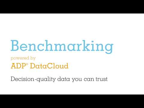 Benchmarking, powered by ADP DataCloud.
