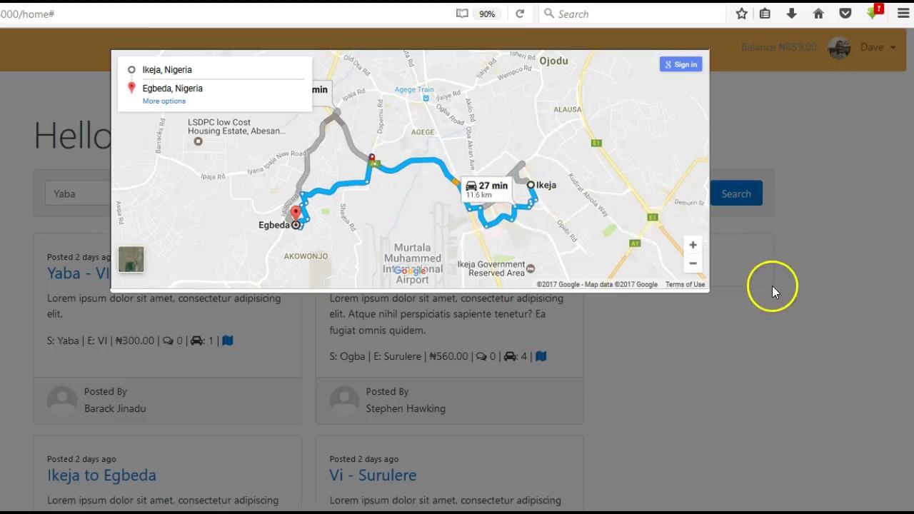 Laravel Ride Sharing / Uber Clone Application