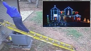 How To Stay Safe While Using A Ladder To Remove Holiday Decorations