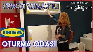 IKEA SALON TURU 1. BÖLÜM : 25 m2 OTURMA ODASI & YEMEK ODASI - İç Mimar Sisters