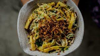 making burmese chickpea tofu salad with limeandcilantro
