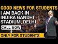 Good News For Students | My Next Seminar in IG Stadium Delhi | Dr Vivek Bindra