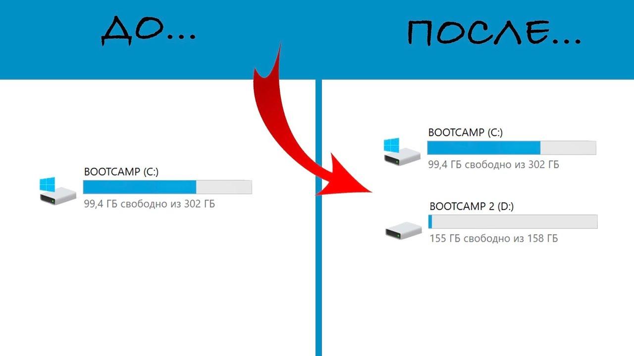 Как добавить ещё один диск в BOOTCAMP (MacOS) - YouTube
