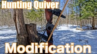 Traditional Archery Tip - Hunting Quiver Modification