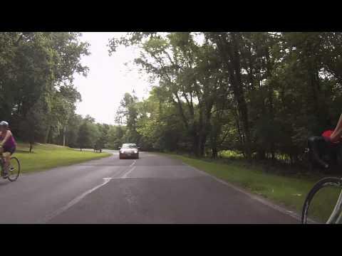 Very Close Call Head-On with a Maryland Driver, Beach Drive, Rock Creek Park, Washington, DC