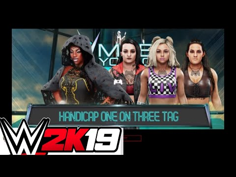 WWE 2K19 Universe Mode - Jackie Justice In A 3 On 1 Match