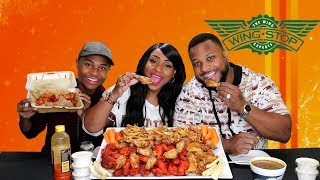 Wing Stop Party Pack  Mukbang and Typical Family Talk