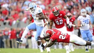 UNC Football: T.J. Logan Breaks Two Long TDs in the 1st Quarter vs. NC State