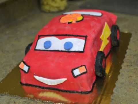 How To Make A Lightning McQueen Car Cake YouTube
