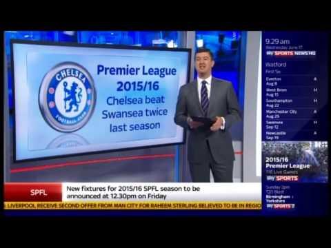 Premier League Fixtures Announced For The 2015 2016 Season