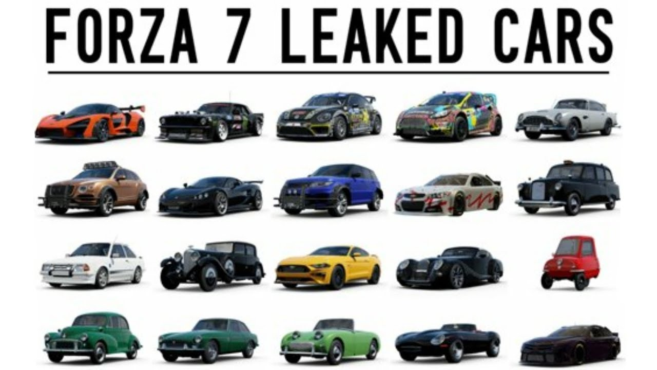 Fh4 Car List forza 7 | 16 newly leaked cars + 4 others! (feat. mclaren senna, 2018  mustang and more!)