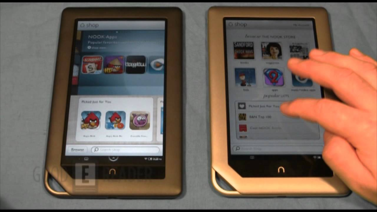 barnes and noble nook tablet and nook color comparison youtube