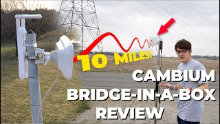 HOW TO GET WIFI OVER 10 MILES AWAY!    Cambium Networks Bridge-in-a-Box Review! [Networking]