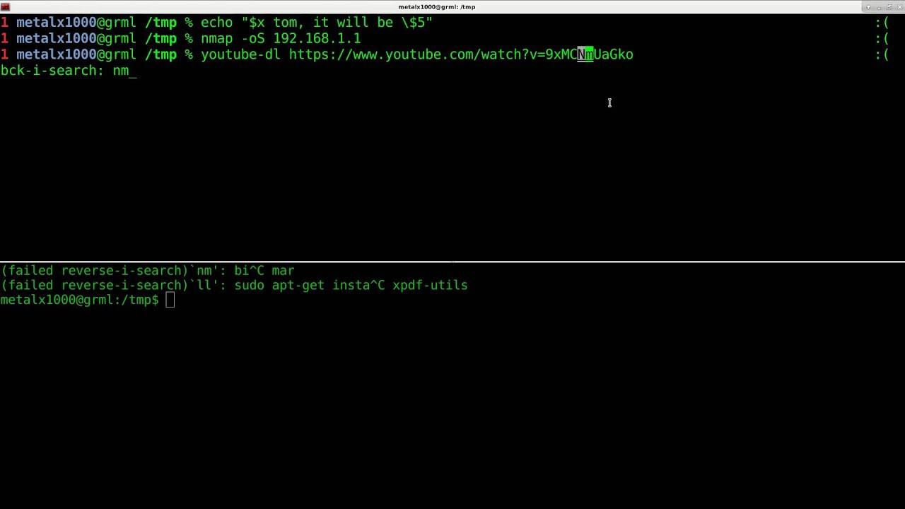 History in the Linux Shell Script Tutorial