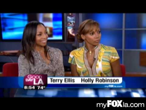 Holly Robinson Peete and Terry Ellis of En Vogue on GDLA FOX 11 News