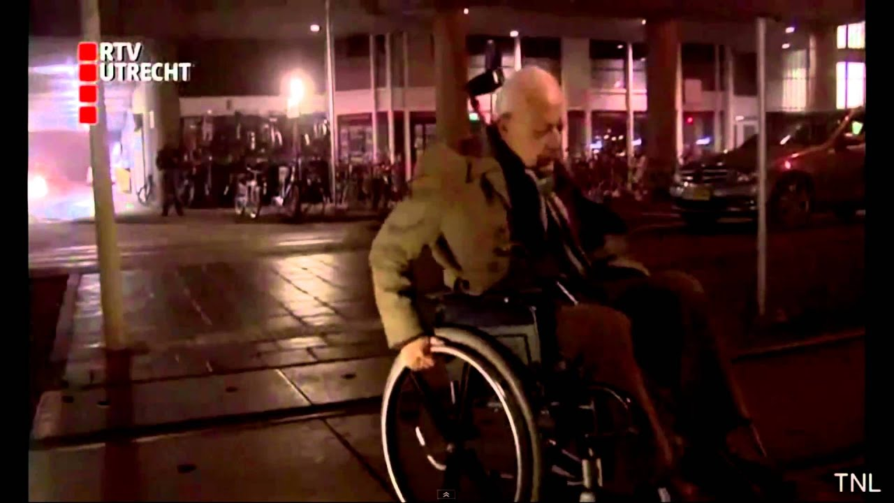 Old man falling on wheelchair - YouTube