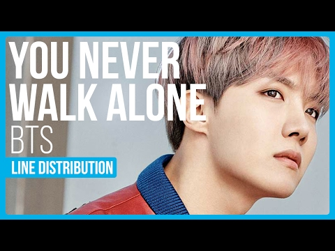 BTS - A Supplementary Story: You Never Walk Alone Line Distribution (Color Coded)